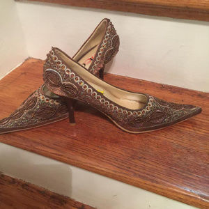 Beautiful Sparkle Brown Shoe Size 9 (New)